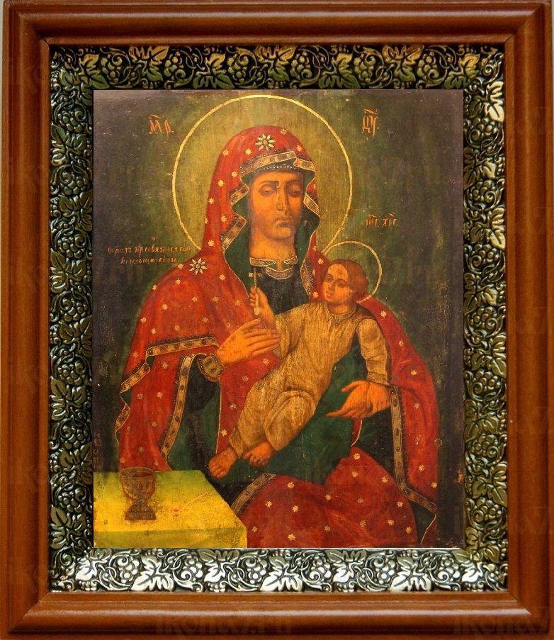 Козельщанская икона БМ (19х22), светлый киот