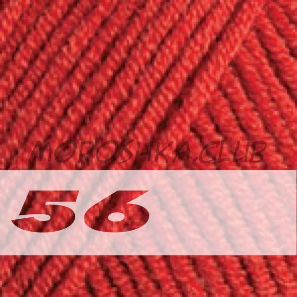 Красный Jeans YarnArt (цвет 56), упаковка 10 мотков