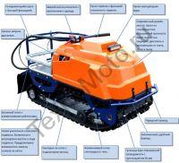 Барс Следопыт М 9 Е (СП) переднеприводный буксировщик с двигателем MTR мощностью 9 л. с., склизовая подвеска, вариатор Safari, агрессивная гусеница с увеличенным протектором и электростартером