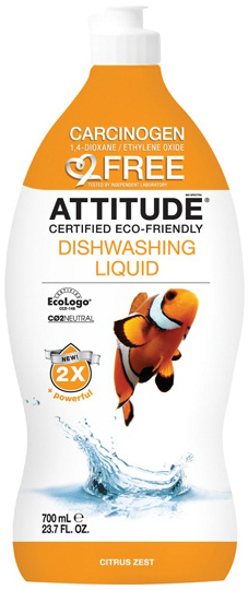 Attitude Средство для мытья посуды Цитрус Зест Грейпфрут-Бергамот 700 мл