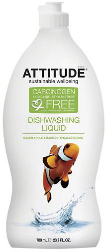Attitude Средство для мытья посуды Зелёное яблоко/Базилик 700 мл