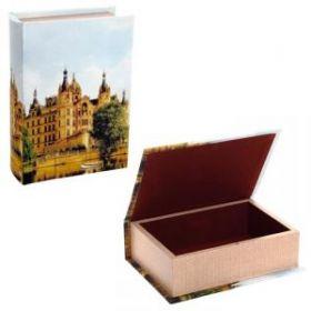 Шкатулка Книга с код.замком (шелк), L 22 W 16 H 7 см дерево, текстильные материалы (арт. 393592)