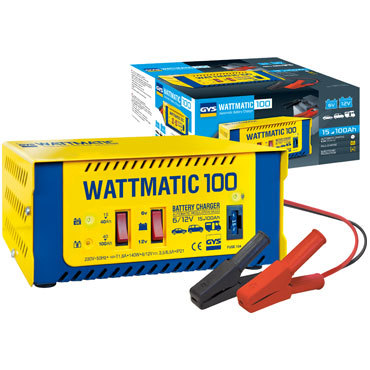 WATTmatic 100 6/12 В  Заряжает на 100 % свинцовые аккумуляторы с жидким или глеевым электролитом (кривая WUoU) Дополнительная защита аккумулятора для обычной зарядки.  Защита от замыкания и смены полярности.
