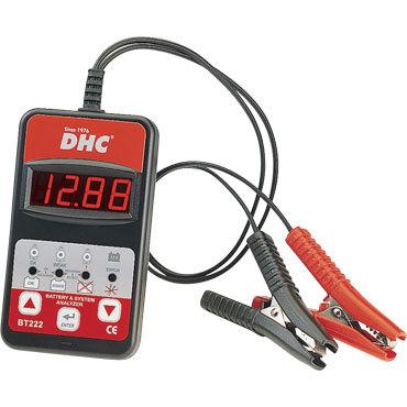 BT 222 DHC 12 В. Электронный тестер для аккумуляторов. Диагностика свинцовых аккумуляторов с жидкостным или гелиевым электролитом от 20 до 150 а/ч. Тестирование без отсоединения и отсоединённого аккумулятора. Тест разряженного аккумулятора от 7 В. Защита