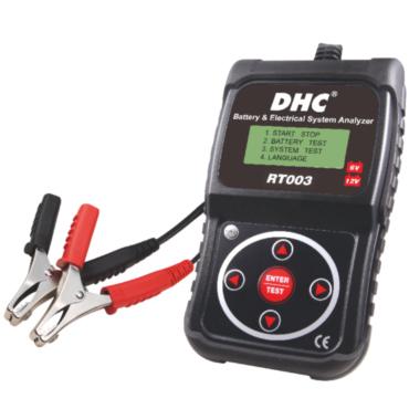 RT 003 START-STOP DHC 12/24 В. Электронный, сверхскоростной и точный тестер для аккумуляторов. Диагностика свинцовых аккумуляторов с жидкостным или гелиевым электролитом от 7 до 230 А/ч. Тестирование без отсоединения и отсоединённого аккумулятора. Тест ра