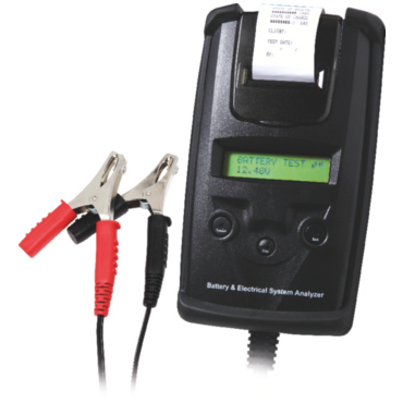 BT 501 DHC 6/12/24 В. Профессиональный электронный тестер для аккумуляторов со встроенным принтером. Позволяет тестировать аккумуляторы 6-12 В, пусковые токи 12-24 В, электроцепи 12-24 В. Диагностика свинцовых аккумуляторов с жидкостным или гелиевым элект