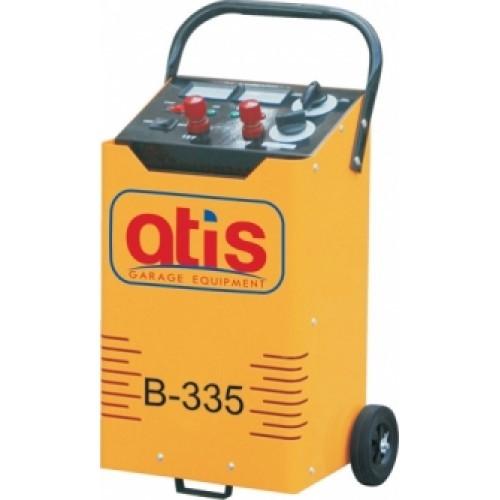 Автоматическое пуско-зарядное устройство. Максимальный стартовый ток: 335А. Эффективный ток зарядки: 6-37А. Зарядка  аккумуляторов емкостью: 35-120 а/ч.  Позиции зарядки - 6 шт.: 6/9/13/20/30/37А.  Напряжение зарядки: 12/24V/220V. Потребляемая мощность: 0