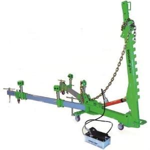 Мини стапель передвижной, (2500х1500мм) 1 силовое устройство усилием 10тн,  1 пневмогидр.насос,  4 станд. зажима за пороги, комплект  с оснасткой 10 пр.,