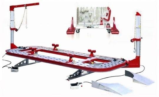 Выправочная система (стапель) стационарная для ремонта автомобильных кузовов.                                                                                                                                      Характеристики: Длина платформы - 5200 мм Ши