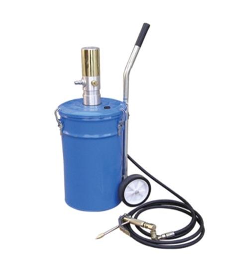 Емкость для нагнетания густой смазки 20л с пневмонасосом