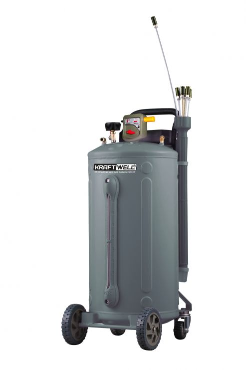KraftWell KRW1831 Установка для откачки масла/антифриза, мобильная