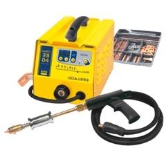 GYSPOT 3904 Аппарат  точечной сварки (для выправки поверхностей из стали), макс ток сварки 3800А, 380В, 16А, 27кг. В комплекте с аксессуарами арт. 050075 и обратным молотком 1,1 кг.