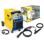 SMARTMIG 3P Сварочный аппарат 3 в одном: полуавтомат для работы в среде газа 0,6-0,8мм, флюсованной проволокой 0,9-1,2мм., горелкой 150А 3 метра, евроразъём и электродом ММА  2,0/2,5/3,2мм. Для сварки стали необходимо применять сварочный газ (Ar+Co2). Диа