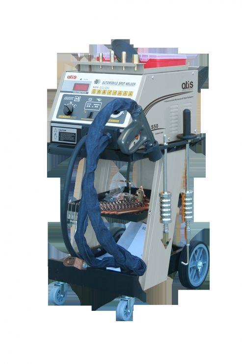 Аппарат для выпрямления стальных поверхностей с набором аксессуаров.  Микропроцессорный контроль.  Автоматический переход в режим охлаждения. Таймер.  Максимальный ток 5000А. 220 или 380В.