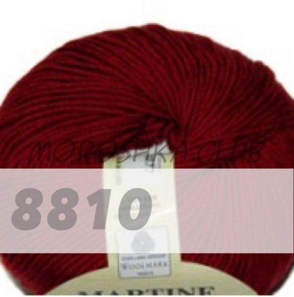 Тёмно-красный Martine BBB (цвет 8810), упаковка 10 мотков