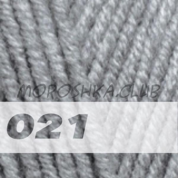 Серый меланж Lanagold plus ALIZE (цвет 021)