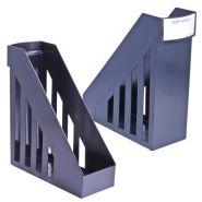 Лоток вертик 100мм BRAUBERG-MAXI чёрный /5 231050