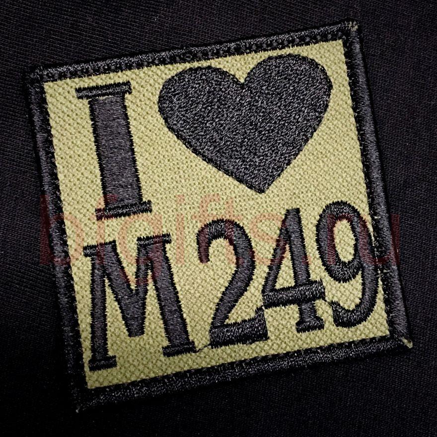 Моральный патч Я люблю М249