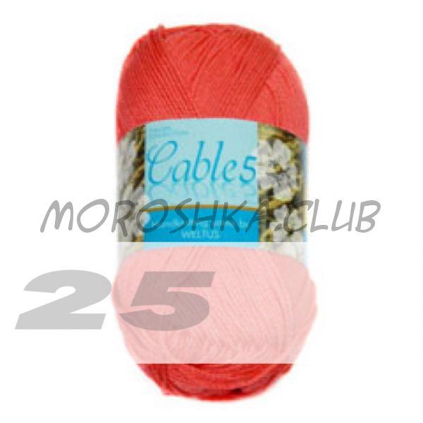 Цвет 25 Cable 5, упаковка 10 мотков