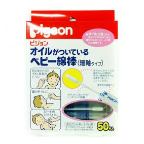 PIGEON Палочки ватные с масляной пропиткой 50шт. индивид. упа