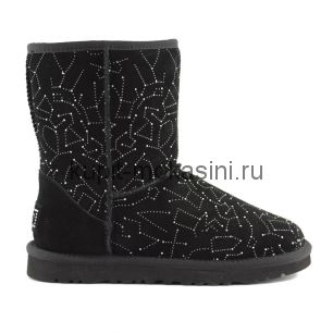 Classic Short Constellation Black - Угги Короткие Constellation Черные