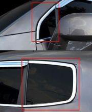 Окантовка рамки задних окон + уголков передних дверей, хром