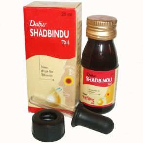 Шадбинду масло / Shadbindu oil (Dabur) капли в нос