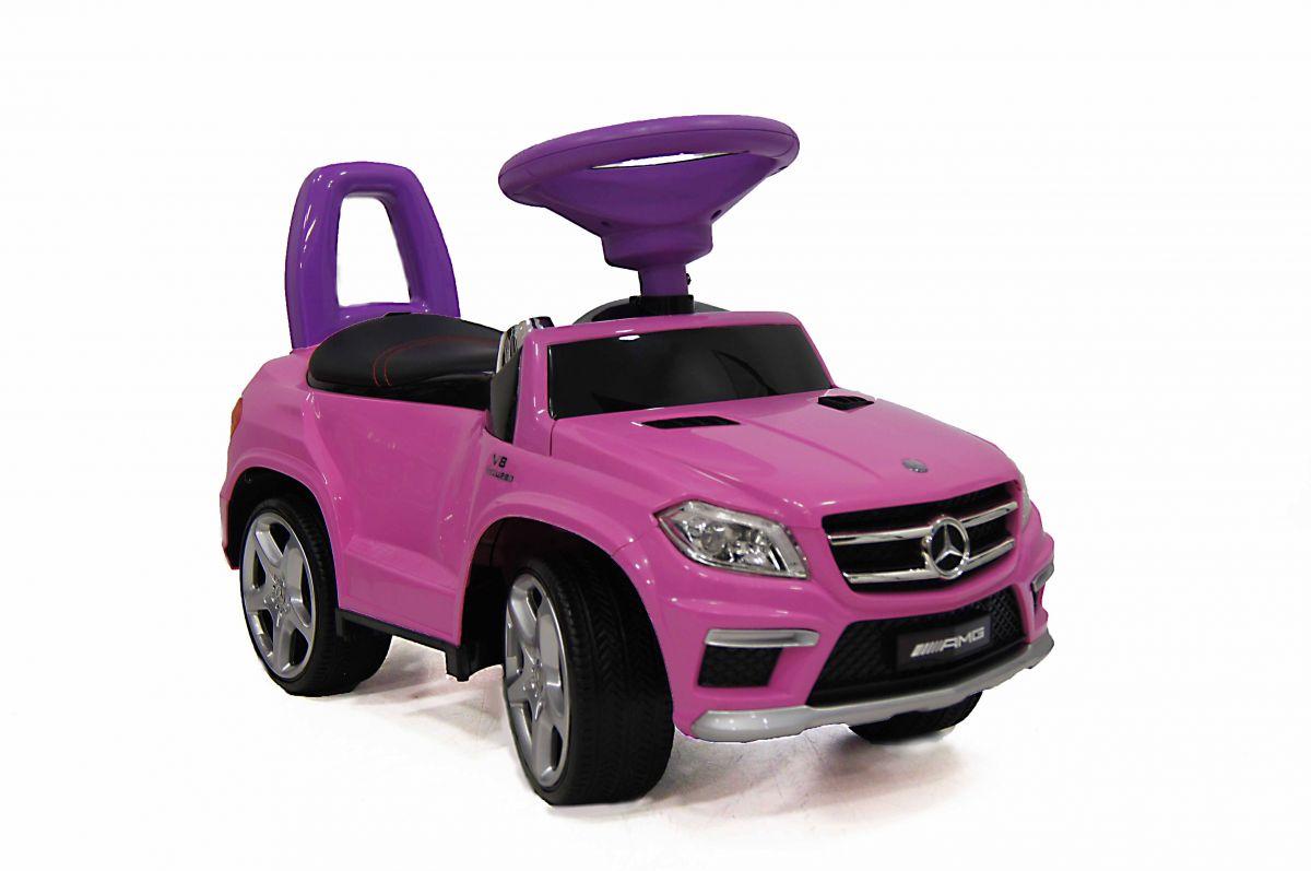 Детская машина-каталка толокар River Toys Mercedes-Benz A888AA, розовый