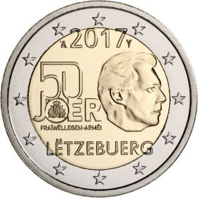 50 лет добровольной армии Люксембурга 2 евро Люксембург 2017