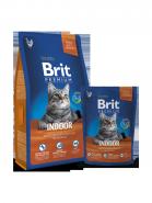 BRIT Premium Indoor Нежная курица с соусом из куриной печени для домашних кошек (800 г)
