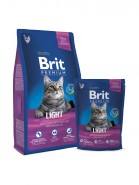 BRIT Premium Light Курица с соусом из куриной печени для кошек с избыточным весом (300 г)