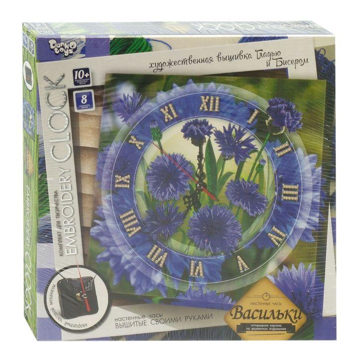 Embroidery clock Васильки