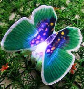 Бабочка декоративная светящаяся