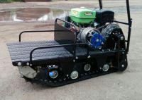 Рекс RV550 компактный мотобуксировщик с двигателем мощностью 15 л.с., вариатор Safari, разрезанная гусеница.
