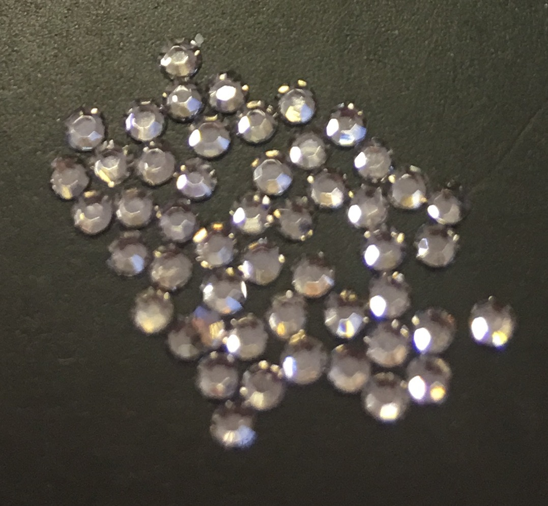 Стразы SS4 стекло плоские (Black Diamond) уп/50шт