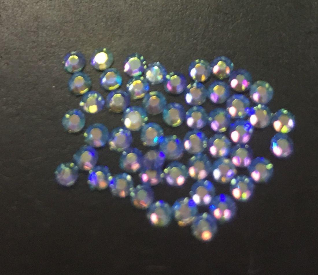 Стразы SS4 стекло плоские (Light Sapphire AB) уп/50шт