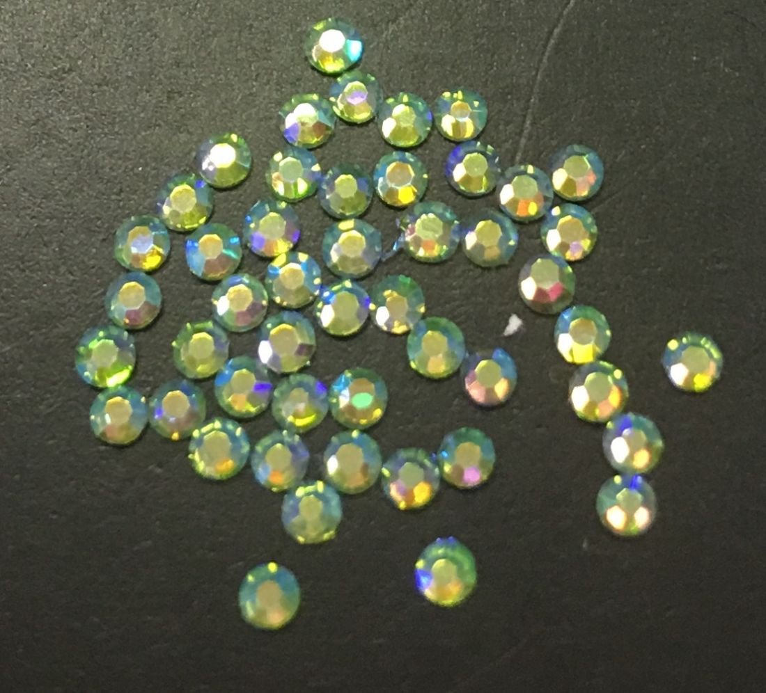 Стразы SS4 стекло плоские (Peridot AB 009) уп/50шт