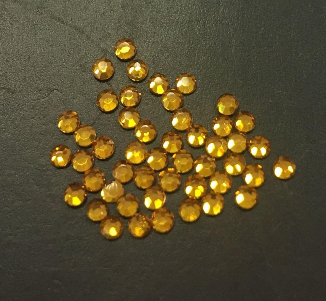 Стразы SS4 стекло плоские (желтые 32) уп/50шт