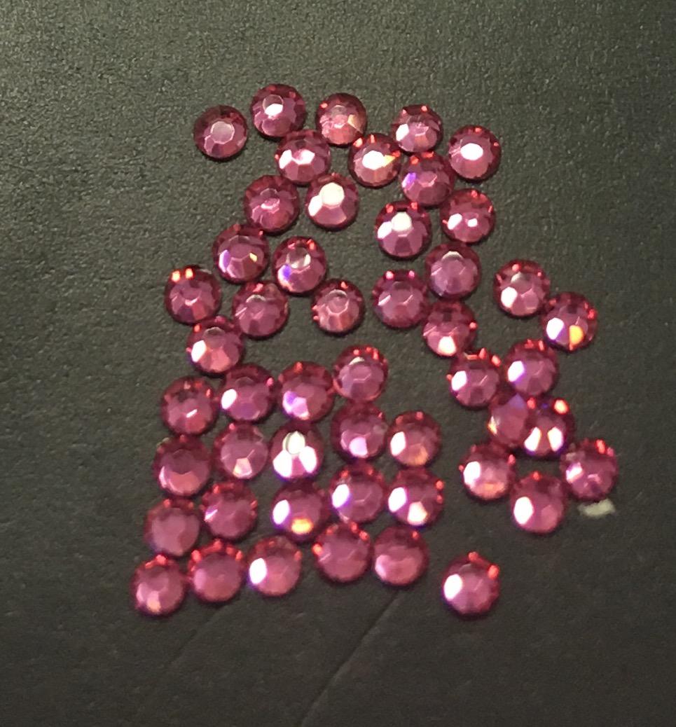 Стразы SS4/1,72 мм стекло плоские (Rose) уп/50шт