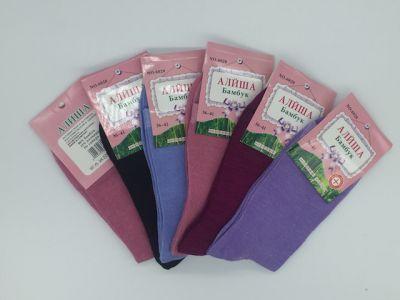 Женские натуральные однотонные носки Бамбук р-р 36-40