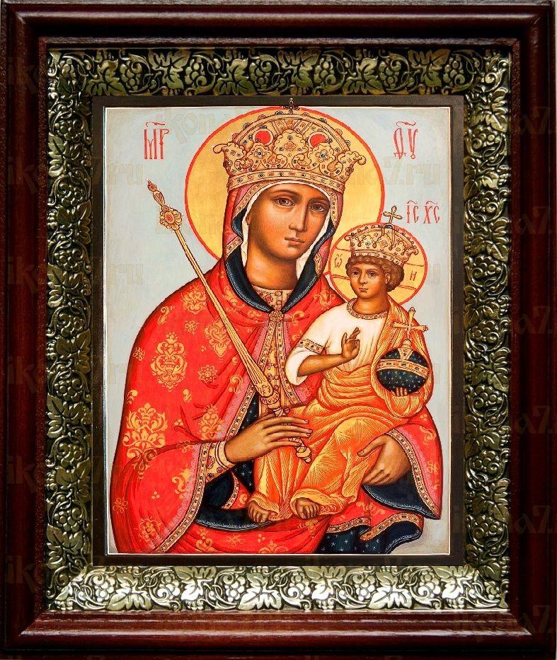 Галатская икона БМ (19х22), темный киот