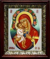 Жировицкая икона БМ (19х22), темный киот