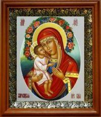 Жировицкая икона БМ (19х22), светлый киот