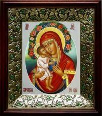 Жировицкая икона БМ (21х24), киот со стразами