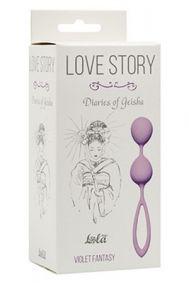 Вагинальные шарики Lola Toys Love Story Diaries Of Geisha сиреневые