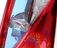 Плёнка голография, красная, 200 гр, 70 см*7,5 м