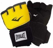 Перчатки гелевые с бинтом Everlast (150см) Duster Evergel LXL жёлтые 140842LXL