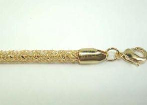 Оригинальная объемная позолоченная цепочка с шариками внутри, 4 мм, 60 см (арт. 160111)