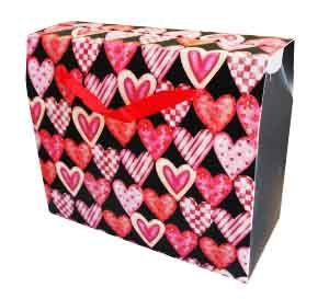 Набор Пакетов бумажных Сердечки (5 шт)