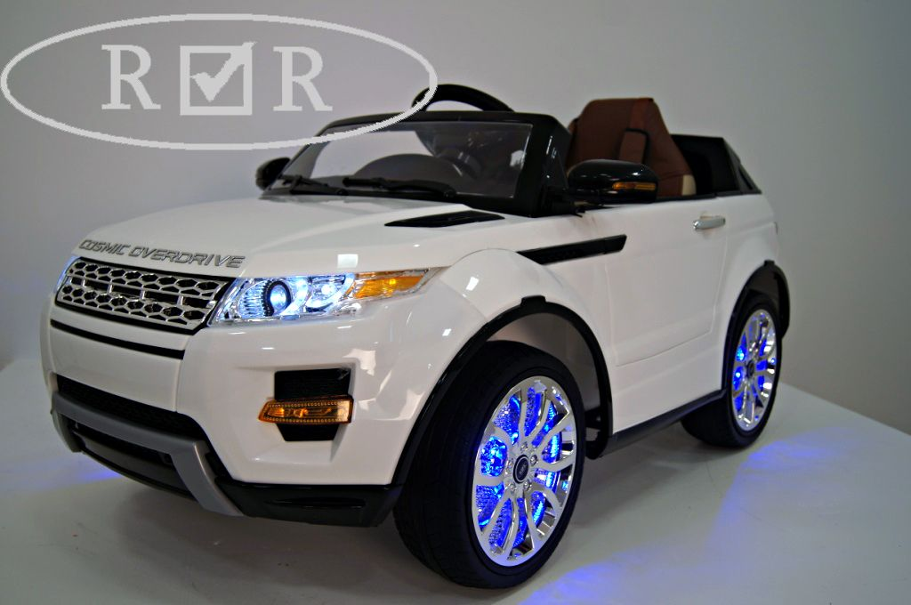 Детский электромобиль River Toys Range Rover A111AA VIP белый